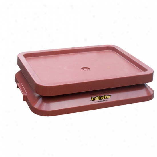 Ant Blocker Ant Proof Pet Aliment Tray In Terracotat