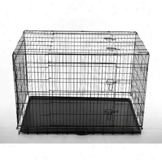 Aosom Llc 30'' 2 Door Folding Pet Cage