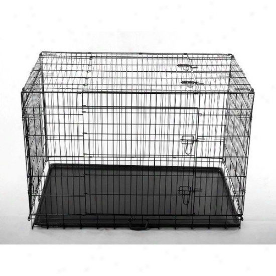 Aosom Llc 42'' 2 Door Folding Pet Cage