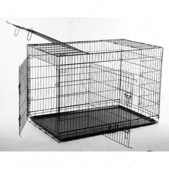 Aosom Llc Big Triple Door Wire Dog Crate