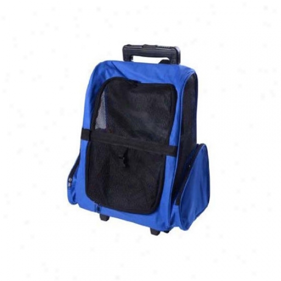 Aosom Llc Deluxe Pet Travel Carrier Backpack With Wheels