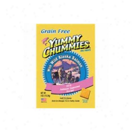 Arctic Paws Y8mmy Chummies Gold 95pct Salmon - Grain Free Dog Treat