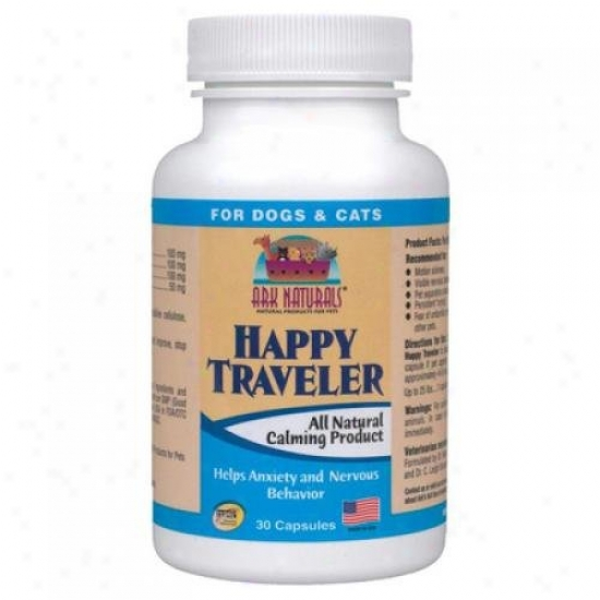 Ark Naturals Happy Traveer For Dogs And Cats 30 Capsules