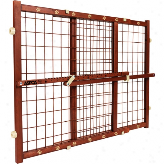 Aspca Wooden Pressure Mount Pet Gate