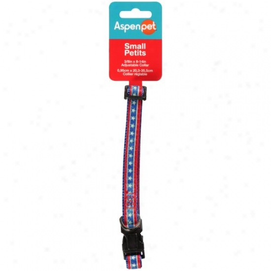 Aspen Pet Adjustable Collar, Small, Pzttern May Vary