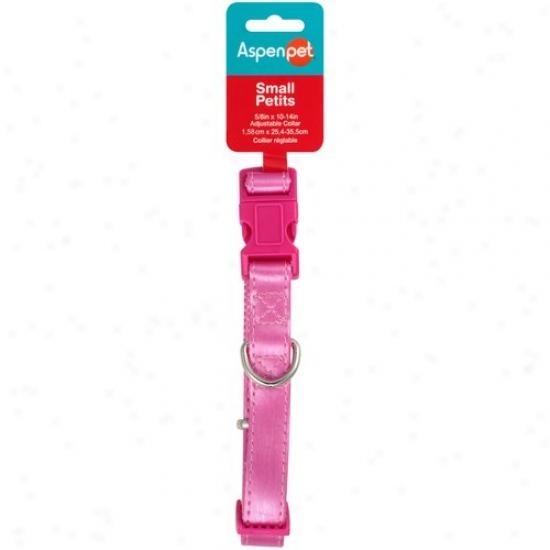 Aspen Pet Small Metallic Fashion Pet Collar, Pink/purple