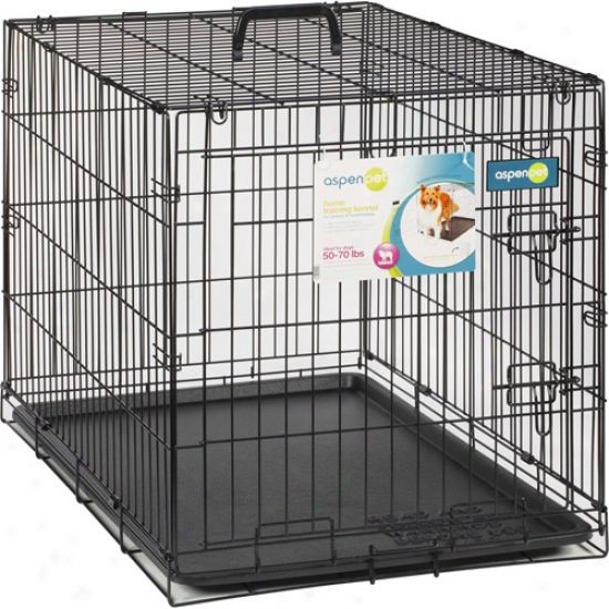"Aspen Pet Wire Home Training Dog Kennel, 34""w X 22""d X 25""b"
