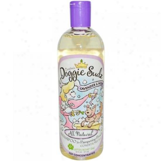 Austin Rose Caroline's Dogtie Sudz Shampoo During Pampering Pooch La\/ender And Neem 16 Oz