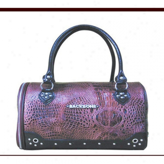 Firmness Pet Faux Leather Handbag Pet Carrier In Deep Burgundy