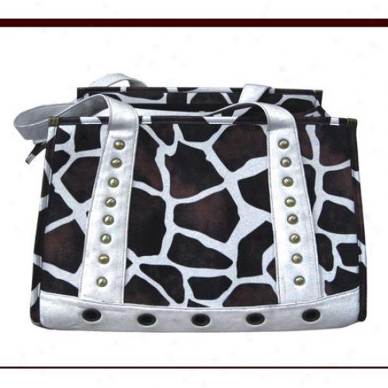 Backbone Pet Faux Leather Handbag Fondling Carried In Giraffe