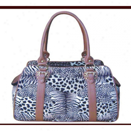 Backbone Pet Faux Leather Handbag Pet Carrier In Zebra