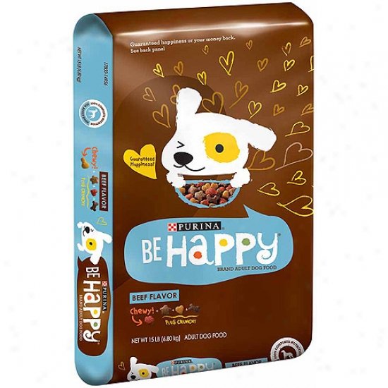 Be Happy Beef Flavor Dog Food, 15 Lbs