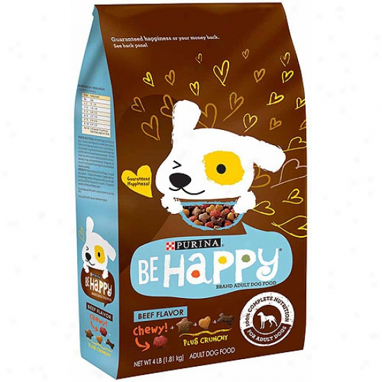 Be Happy Beef Flavor Dog Food, 4 Lbs