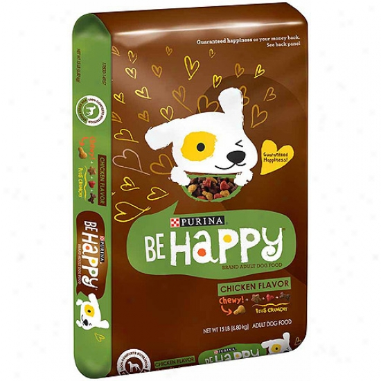 Be Happy Chicken Flavor Dog Food, 15 Lbs