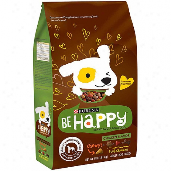 Be Happy Chicken Flavor Dog Food, 4 Lbs