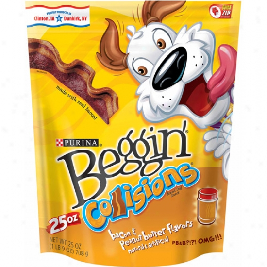 Beggin' Collisions Bacon And Peanut Butter Flavors Dog Snack, 25 Oz