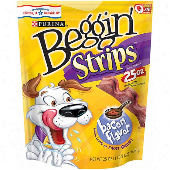 Beggni' Striips Bacon Flavor Dog Snack, 25 Oz