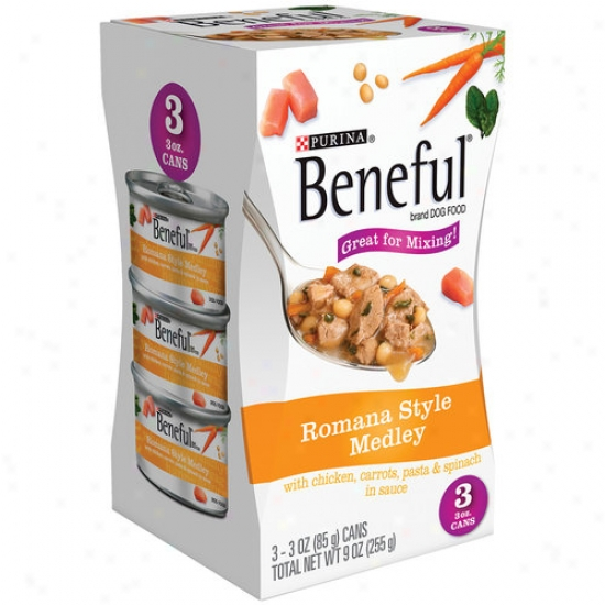Beneful Roman Style Medley Canned Dog Food, 3 Oz, 3 Count