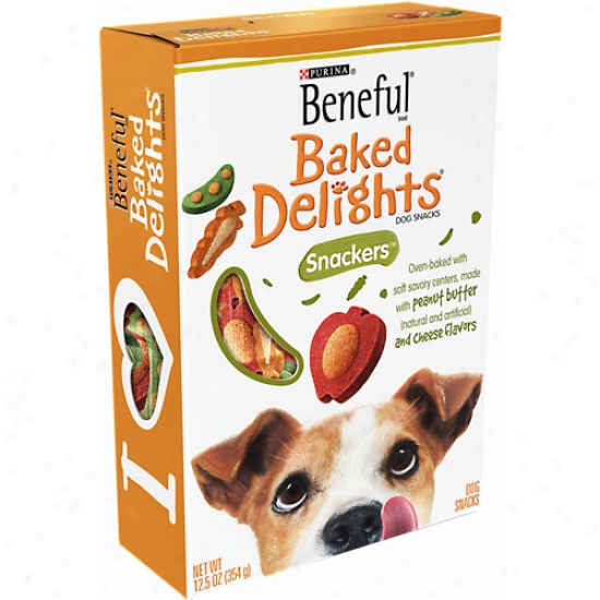 Beneful Treats Baked Delights Snackers Dog Snacks, 12.5 Oz