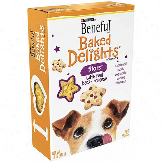 Beneful Treats Stars With Bacon And Cheese Dog Snacks, 11 Oz