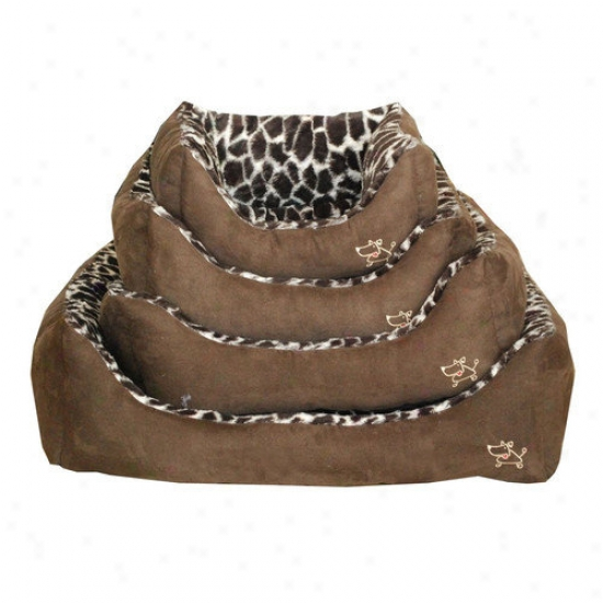 Best Pet Supplies Animal Print Oval Bed