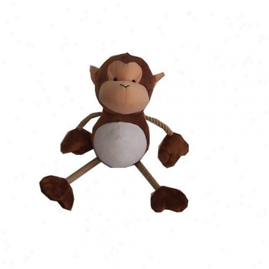Best Pet Supplies Monkey With Rop Plush Dog Toy