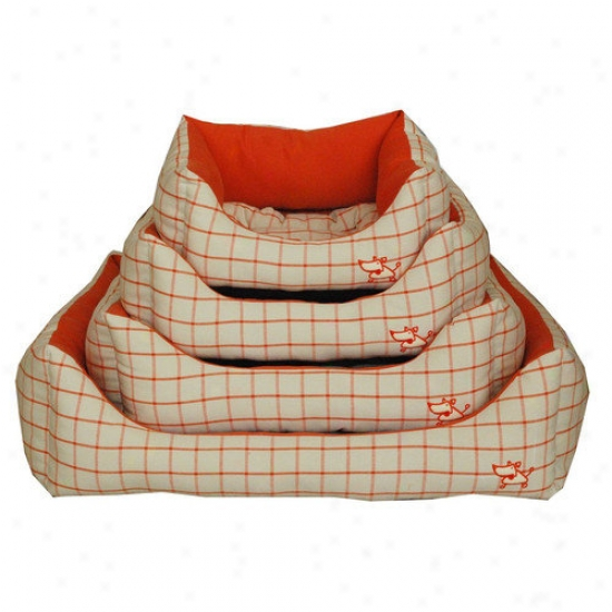 Best Fondle Supplies Orange Checked Bed