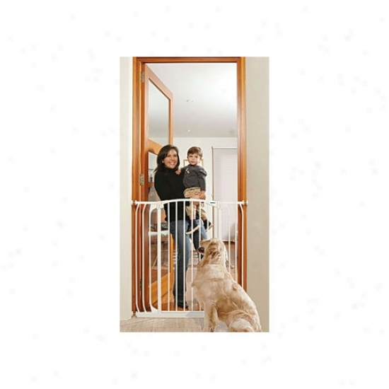 Bindaboo White Extra-tall Hallway Pet Gate In White