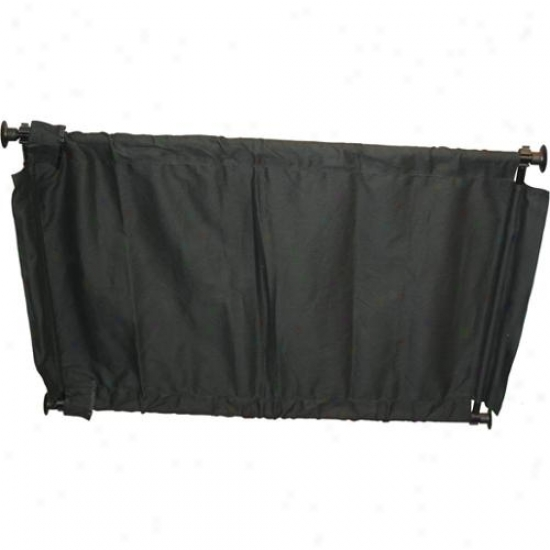 Black Canvas Indoor Pet Barrjer Gate