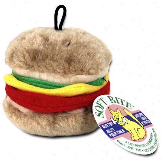 Booda Pet Products Medium Burger Dog Toy