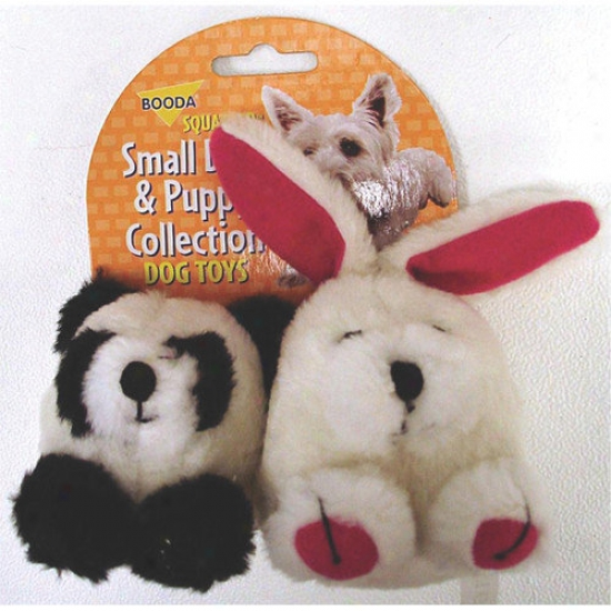 BoodaP et Products Squatter Panda/rabbit Dog Toy (2 Pack)