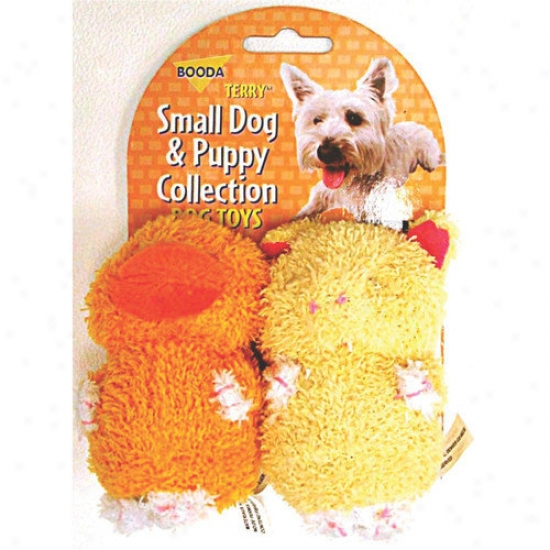 Booda Pet Products Terry Duck/pig Dog Toy (2 Pack)