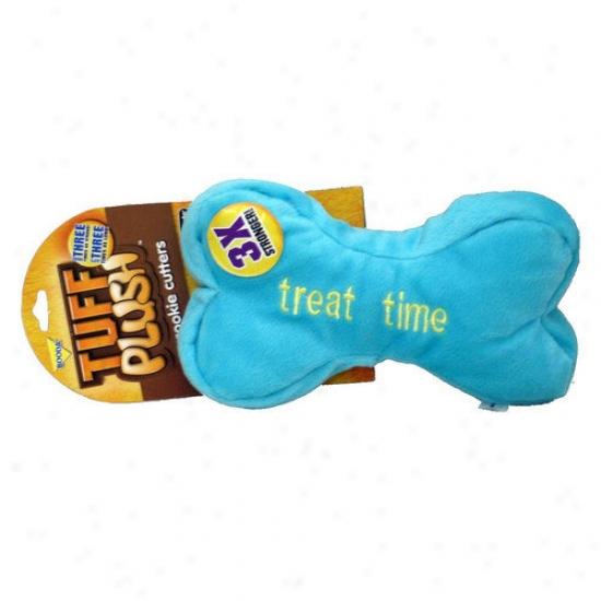 Booda Pet Products Tuff Plush Cookie Cutters Bone Dog Toy