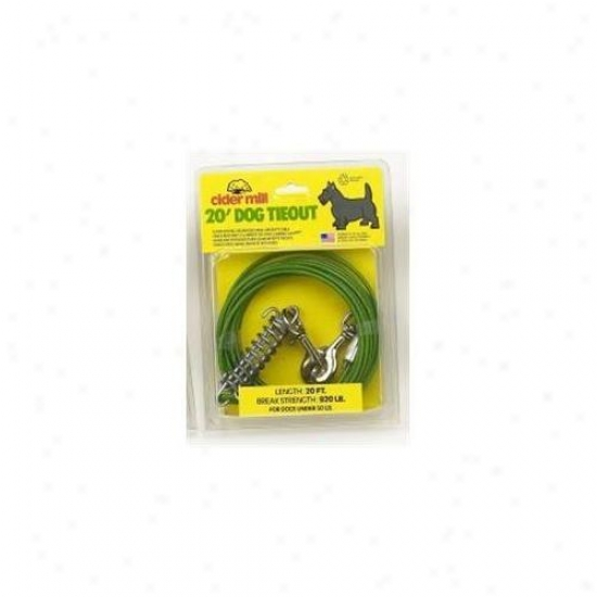 Booda Products Vinyl Tieout Green 20 Feet - 3492020