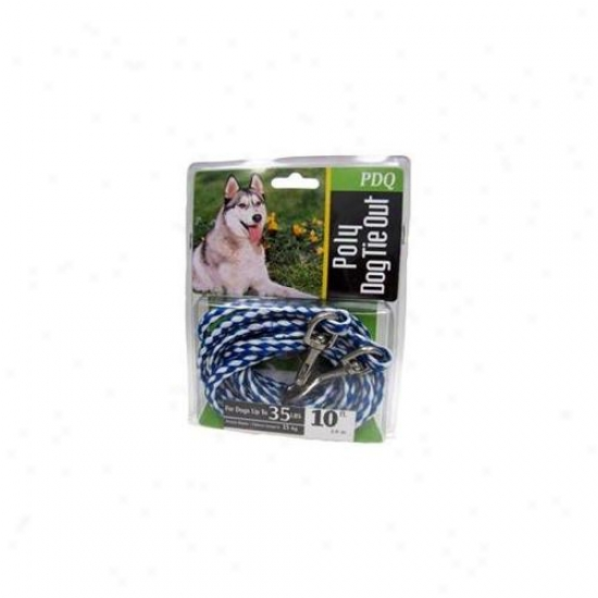 Boss Pet Products Q2410 000 99 10 Ft.  Medium Dog Pdq Rope Tie Out