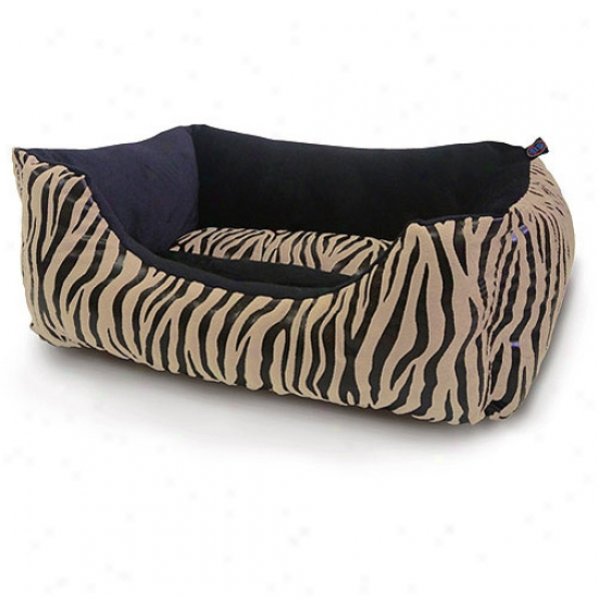 """Bow-wow Pet 22"""" X 18"""" X 8"""" Dog Bed, Sophisticated Safari"""