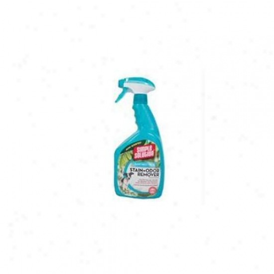 Bramton Company - Simple Solution Stain Plus Odor Remover- Rainforest 32 Ounce - 13842