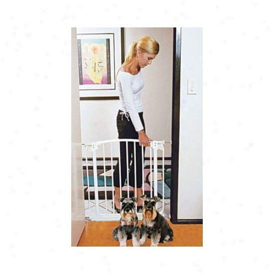 Bundle-15 Bindaboo White Swing Closed Pet Gate (set Of 2)