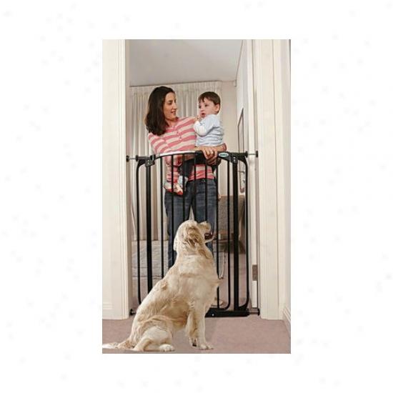 Bundle-45 Bindaboo Black Extra-tall Swing Closed Pet Gate (set Of 2)