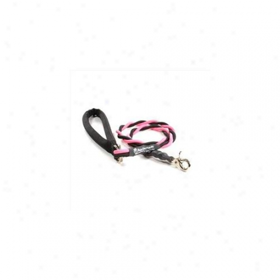 Bungee Pupee Bt204l Medium Up To 45 Lbs - Pink And Black 3 Ft.  Leash