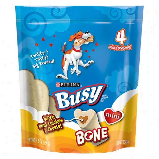 Busy Mini Bone With Real Chicken And Cheese Dog Treats, 6.5 Oz