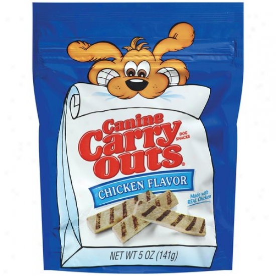 Canine Carry Outs Chicken Flavor Dog Snacks, 5 Oz