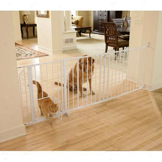 Carlson 3030ds Domestic Decor Auto Close Walk Through Fondle Gate, Charcoal Steel With Cherry Wood