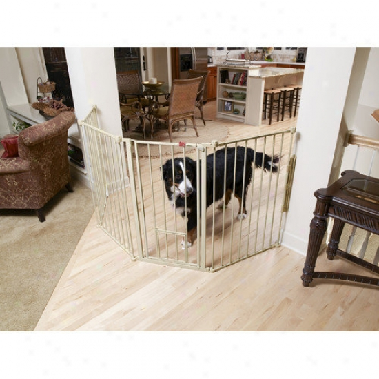 Carlson Pet Products 24'' Gate Expansion For 1510hpw Extra-tall Flexi Pet Gate