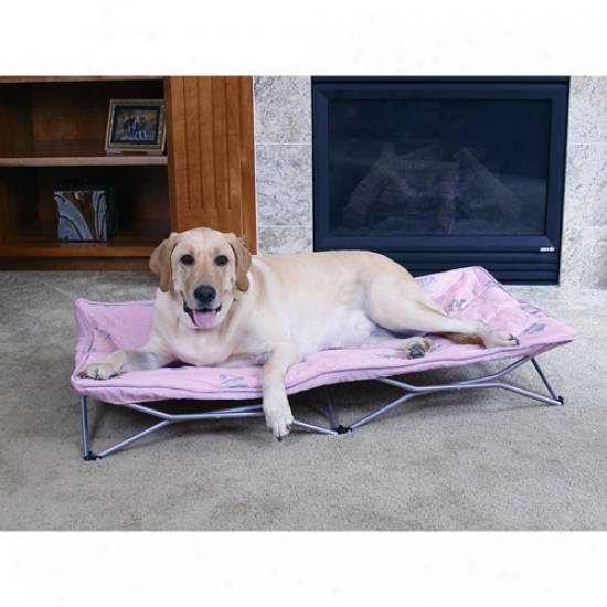 Carlaon Pet Products Large Portable Pup Dog Bed, Pink