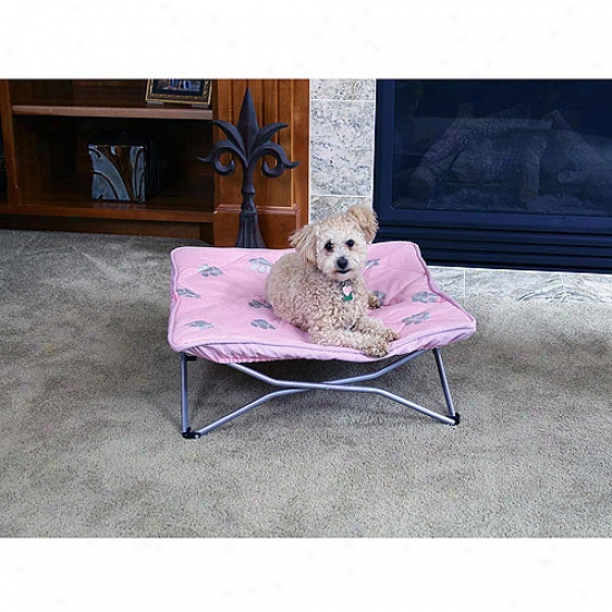 Carlson Pet Products Portable Pup Dog Bed, Pink