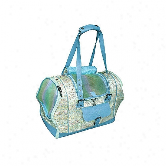 Celltei Precious Tote-o-pet Carrier In Spring Geen Tapestry