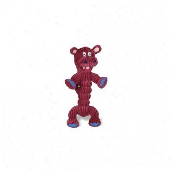 Charming Pet Products Corduroy Zonker Large Hippo Dog Toy