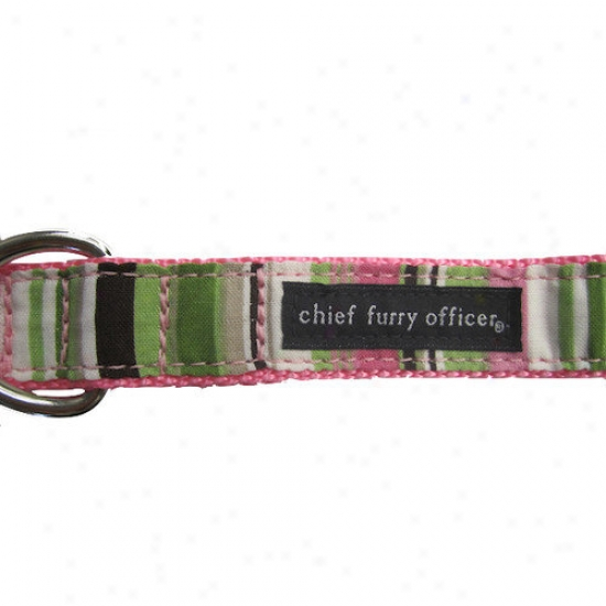 Chief Furry Officer Pacific Palisades Pink Dog Leash