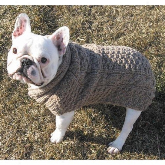 Chilly Do gatural Cable Dog Sweater